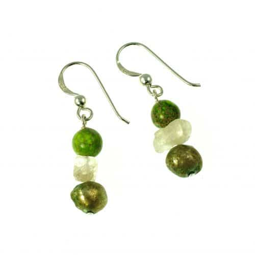Missy K - Jasper Citrine And Pearl Drop Earrings