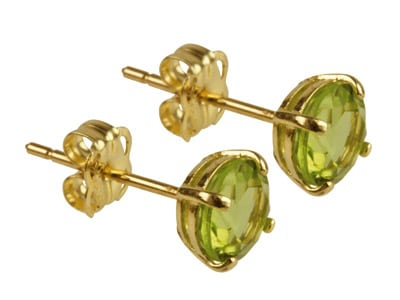 9ct Gold Birthstone Stud With Peridot - August