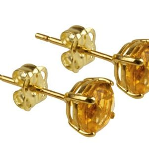 9ct Gold Birthstone Stud With Yellow Topaz - November