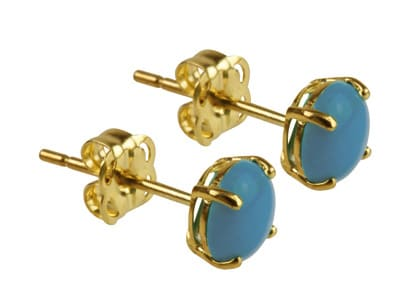 9ct Gold Birthstone Stud With Turquoise - December