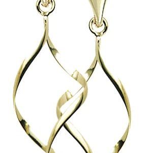 9ct Yellow Gold Wire Work Drop Earrings