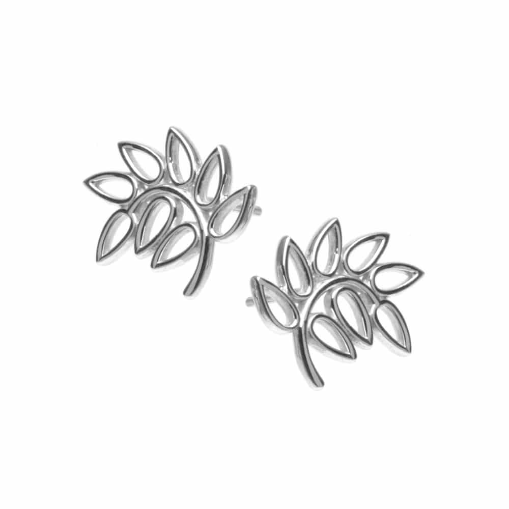 Silver Leaf Design Studs - More Options