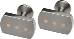 Ti2 Titanium And  9ct Red Gold Cufflinks - Dots
