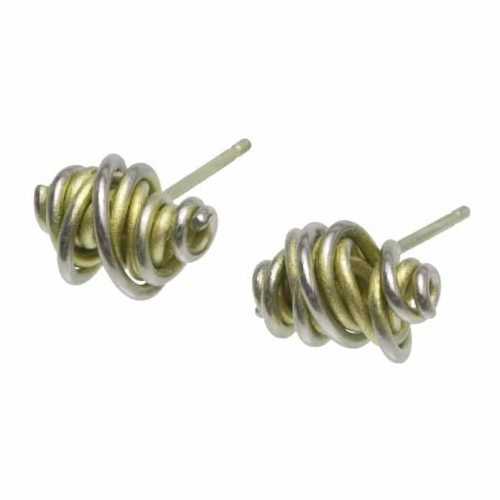 Ti2 Titanium Chaos Stud Earrings Lemon Yellow - More Colours Available