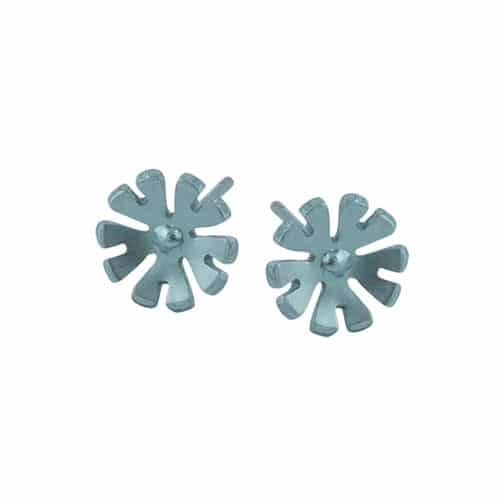 Ti2 Titanium S333 Aqua Ten Petal Titanium Stud - More Colour Options