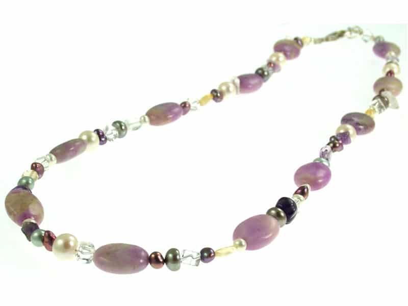Missy K -  Amethyst and Jasper Necklace
