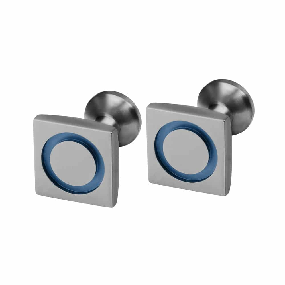 Ti2 Titanium C082 Mid Blue Cufflinks - More Options
