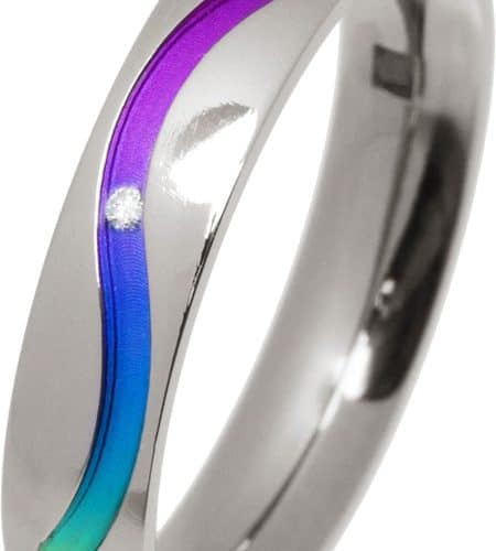 Ti2 Titanium 4mm Diamond Set - Rainbow