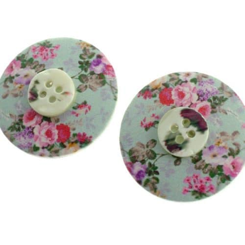 Missy K -  Large Button Stud Earrings