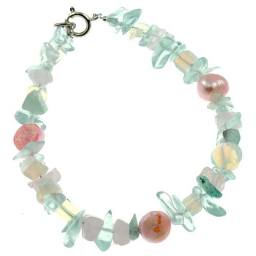 Missy K - Quartz And Pearl Bracelet