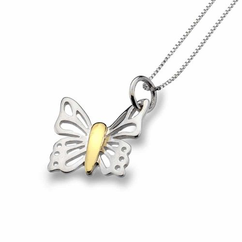 Sea Gems Sterling Silver Butterfly Pendant - P2305