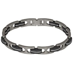 Ti2 B075 Gents Titanium And Rubber Bracelet