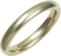 18ct Gold Wedding Ring - 3mm Ladies