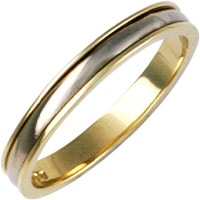 Ladies 18ct Gold And Platinum Wedding Ring
