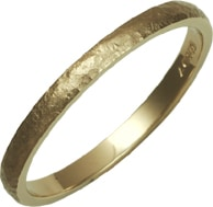 Ladies 9ct Gold Textured Wedding Ring