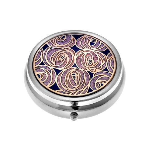 Sea Gems Mackintosh Pink Roses Pill Box
