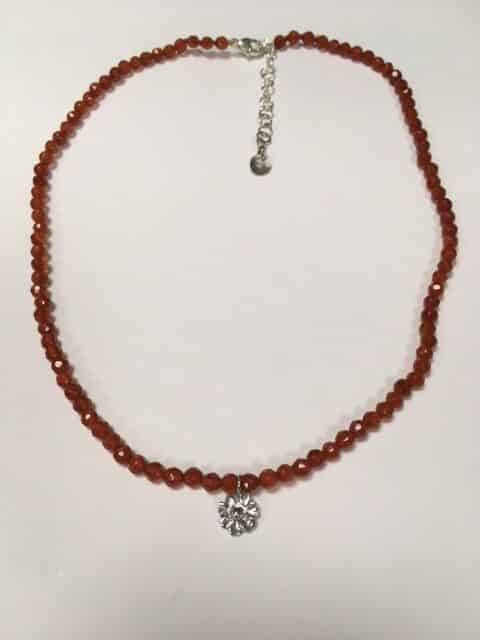 Carnelian Bead Necklace by Godfrey Jewellers