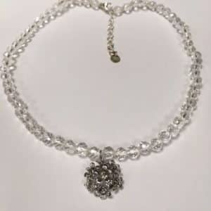 Sterling Silver Rock Crystal Necklace by David Keating